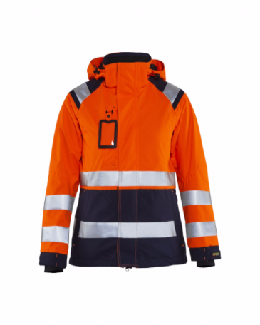 Blaklader 4904 Ladies High Vis Shell Jacket (Orange/Navy Blue)